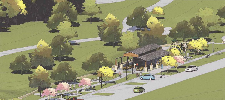 Escondido Creek Parkway rendering of Pullin Street Trailhead