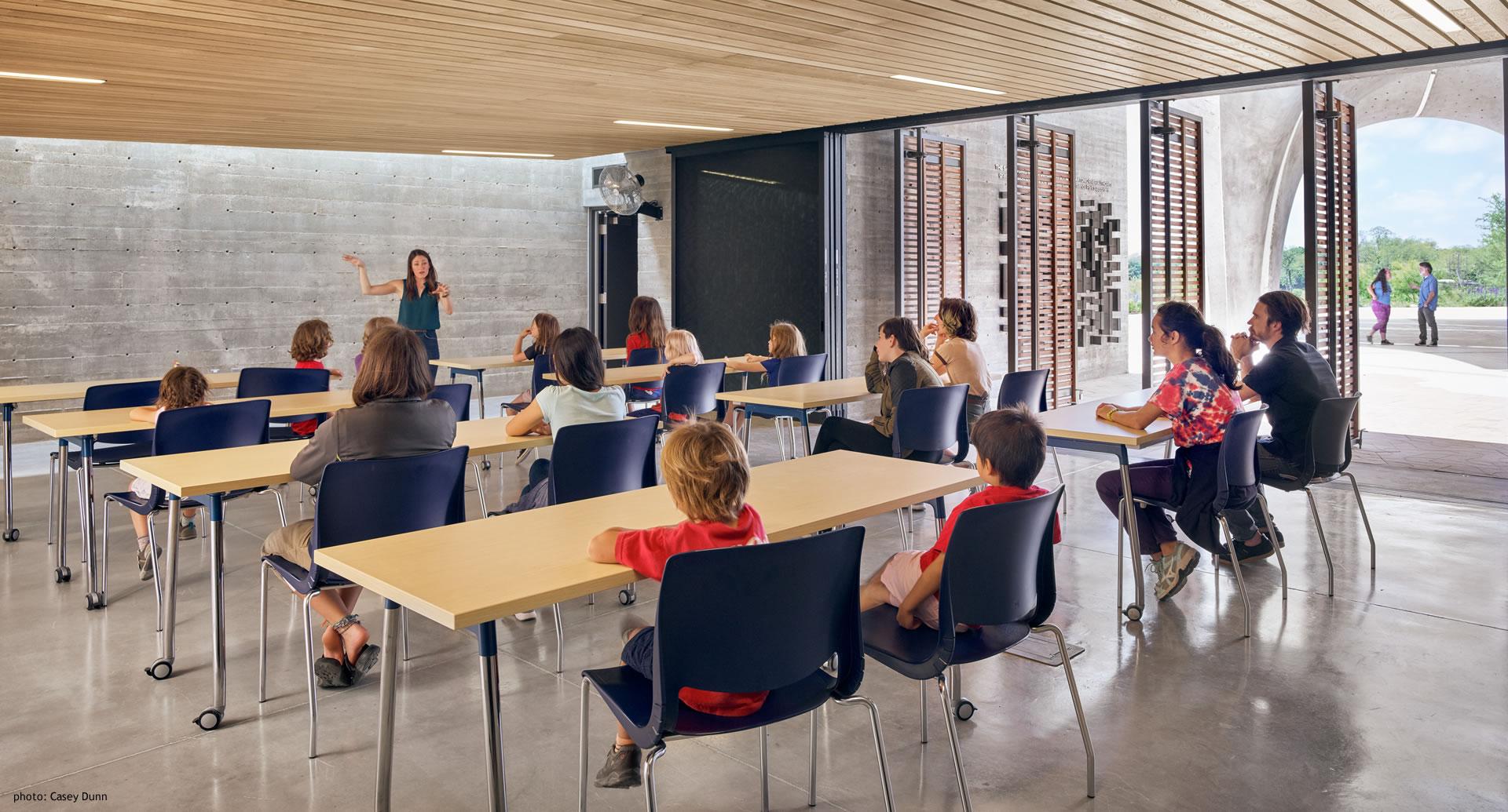 Confluence Park inside Classroom with School Children