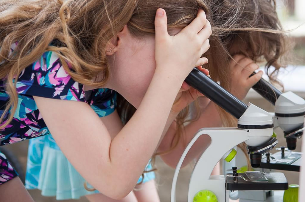 Children Looking in Microscopes